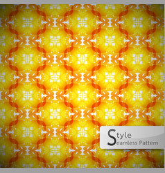 Flower golden orange rope geometric seamless vector