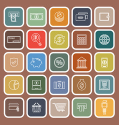 Payment flat icons on brown background vector