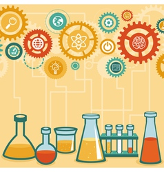 Chemistry and science research vector