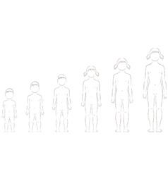 Child figure vector