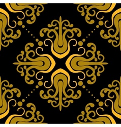 Ornamental pattern with damask motifs vector