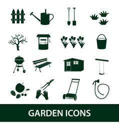 Garden symbols icons eps10 vector