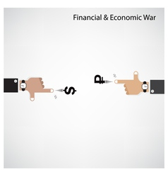 Businessman hand shooting financial or economic wa vector