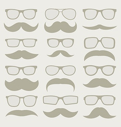 Mustaches set vector