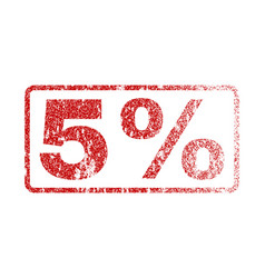 5 percent rubber stamp vector