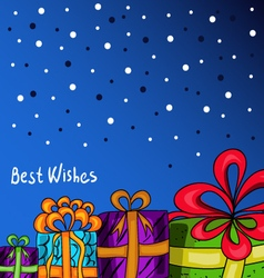 Card with gifts vector