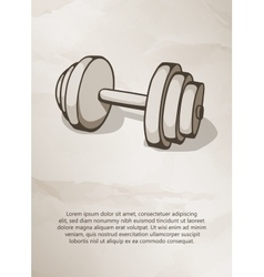 Dumbbell vintage label logo frame brochures vector