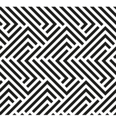 Seamless geometric pattern by stripes vector