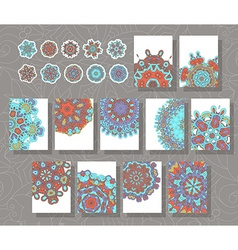 Mandala template a set of simple patterns with vector