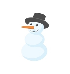 Snowman icon cartoon style vector