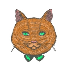 Ginger cat vector