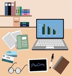 Work office room vector