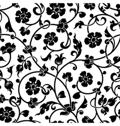 abstract flowers baroque seamless pattern vector image vector image