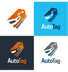 Auto tag logo and icon vector