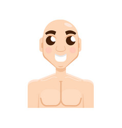 bald-headed man character flat style vector image