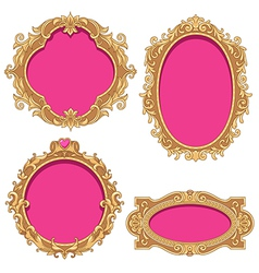 barocco frame vector image vector image