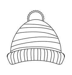 Beanie winter hat vector