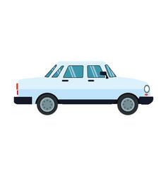 Blue car icon vector