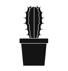 Cactaceae cactus icon simple style vector