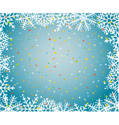 christmas background trmplate with snowflakes and vector image vector image