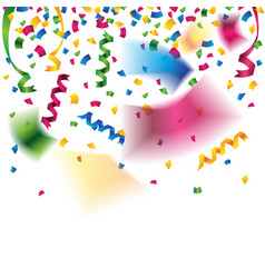 Colorful confetti and party ribbons for vector