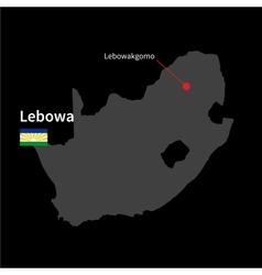 Detailed map of Lebowa and capital city vector image vector image