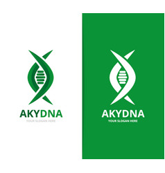 Dna and genetic logo combination vector