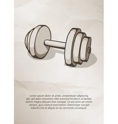 Dumbbell Vintage Label Logo Frame Brochures vector image