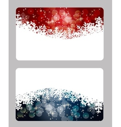 Elegant Christmas cards template vector image vector image