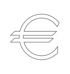 Euro symbol the black color icon vector
