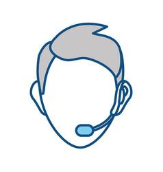 face man call center vector image vector image