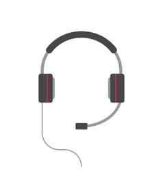 Headphones isolated flat cartoon headset vector image