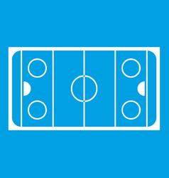 Ice hockey rink icon white vector