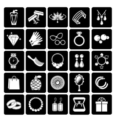 jewelry and accessories icons vector image vector image