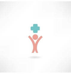 Man medic icon vector