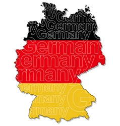 Map of germany 1 vector