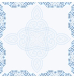 Oriental pattern in blue colors vector image vector image