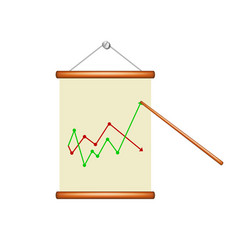 Roll up poster with graph vector
