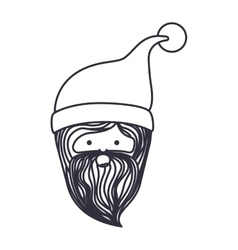Santa cartoon of christmas season design vector