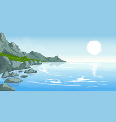 seascape with peaks vector image vector image