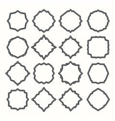 Set of blank frame vector