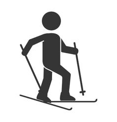 ski board snow pictogram vector image