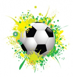 soccer ball 1 vector image vector image