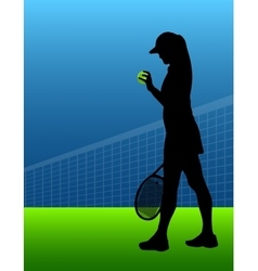 Sport background tennis woman vector
