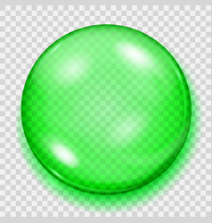 transparent green sphere with shadow vector image