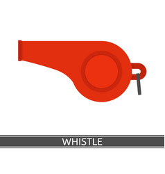 whistle icon vector image vector image