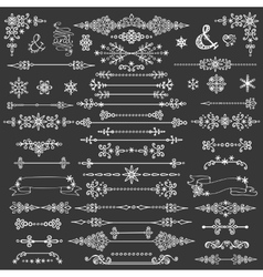 Winter decorationbordes dividersChristmasNew vector image