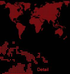 world map halftone vector image vector image