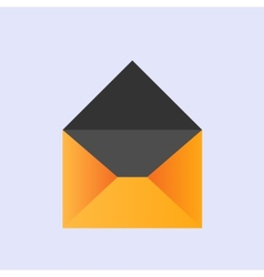 yellow envelope icon eps10 vector image