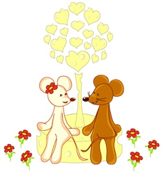 romantic mouse vector image